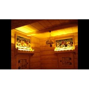 LAMPA LED 12V - 50 cm bialy cieply/zimny